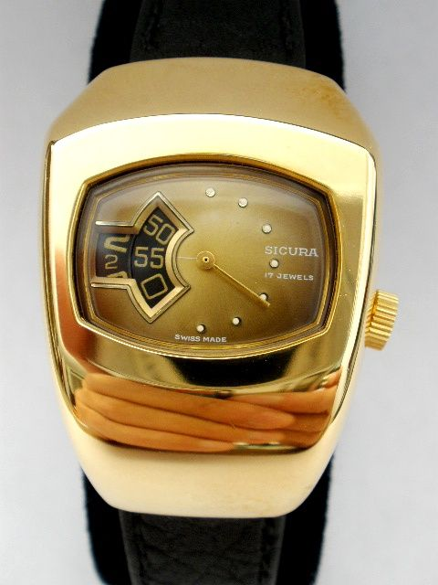 Sicura Jump Watch (1970`s) This company merged with Breitling