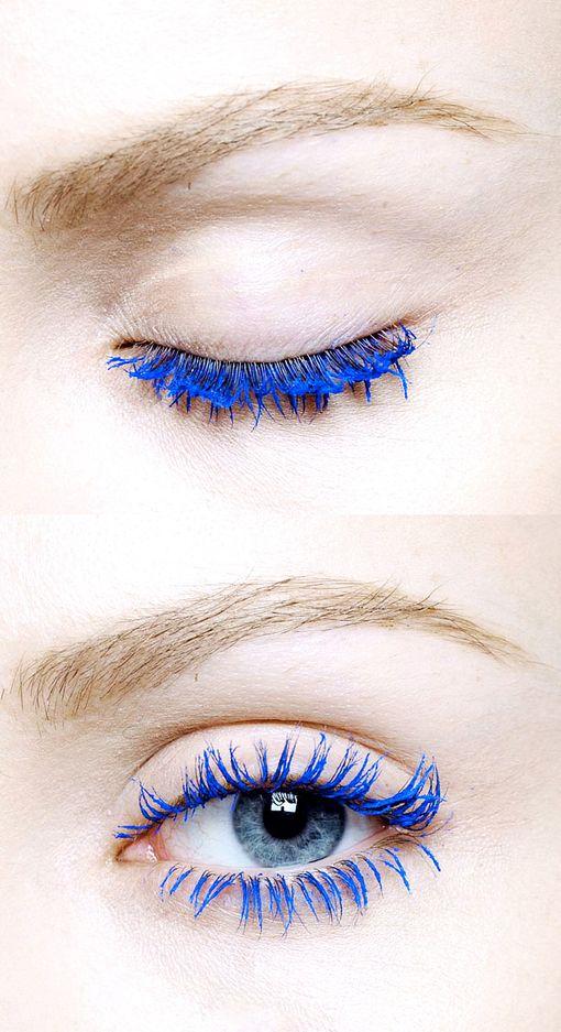 Would you wear bright blue mascara?