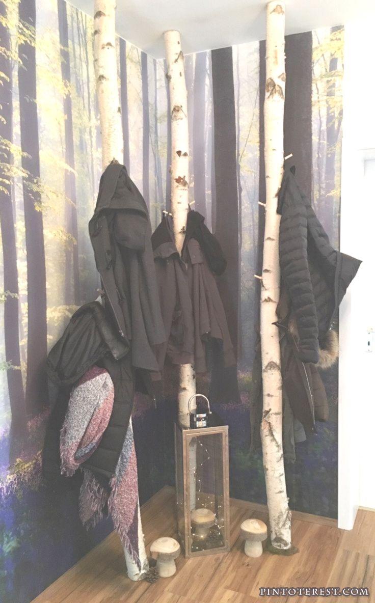 Birkenstamm Garderobe von Birkendoc. Platzsparend und ...