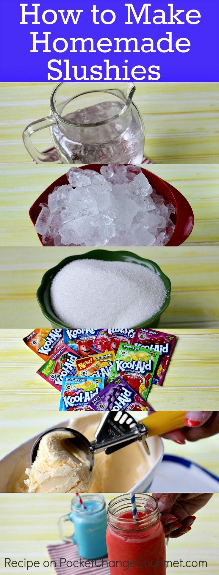 Homemade Slushies with Ice Cream | Recipe on PocketChangeGourmet.com