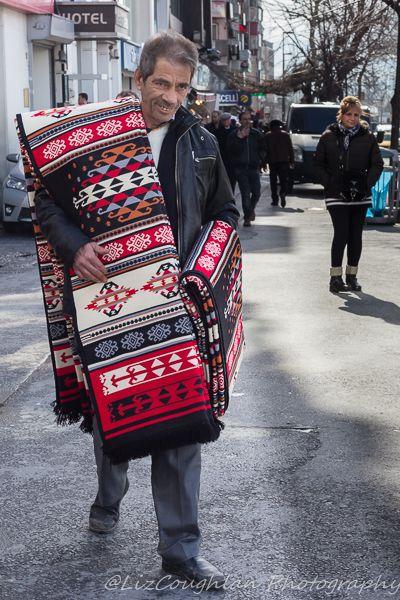 Rug Vendor in Aksaray, Istanbul