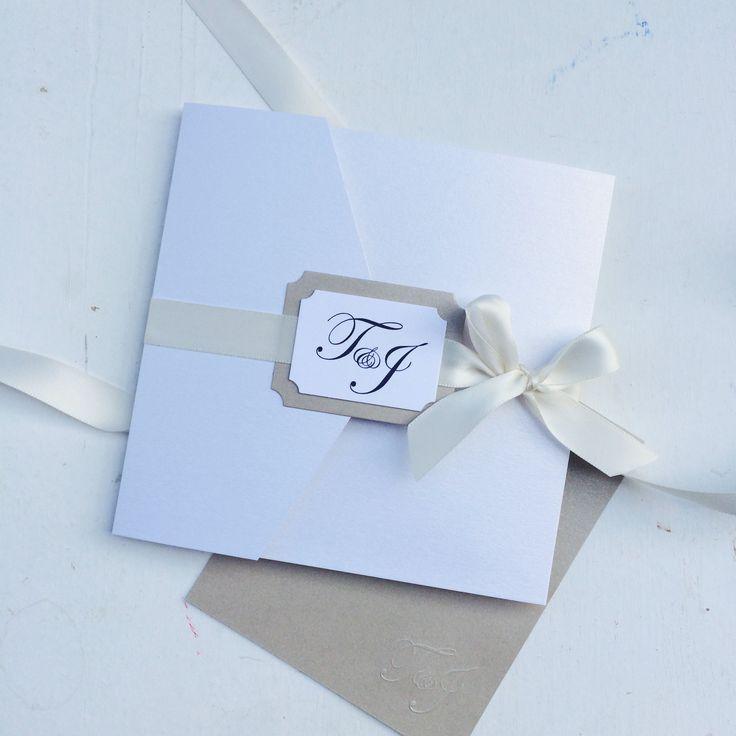 Pocketfoldkarte zur Hochzeit, Einladung zur Hochzeit, Pocketfoldkarte, Monogramm, Satin,Klassisch Elegante Einladung zur Hochzeit,  Sandra Kolb, www.samey.de