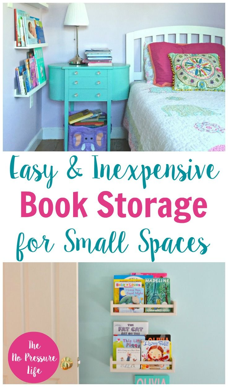 These small-space book storage ideas are great for small nurseries and kids rooms! via @nopressurelife