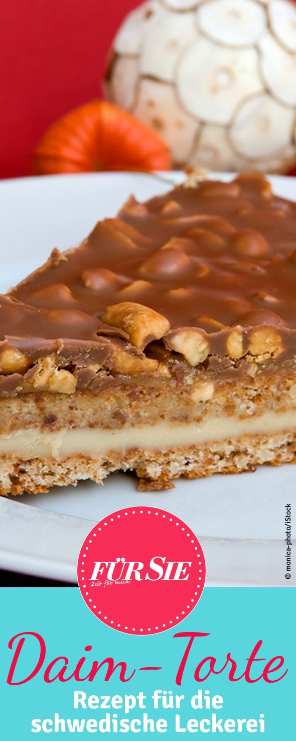 The delicious candy from butter-almond-caramel with chocolate cover originally comes from Sweden.  With our recipe you can bake a creamy cake.