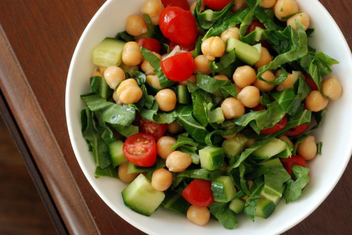Chickpea, Barley And Zucchini Ribbon Salad With Mint And ...