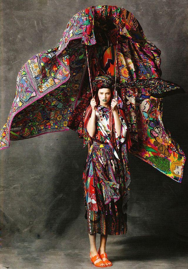 Jenny Kee via Vogue Australia 50th Anniversary edition