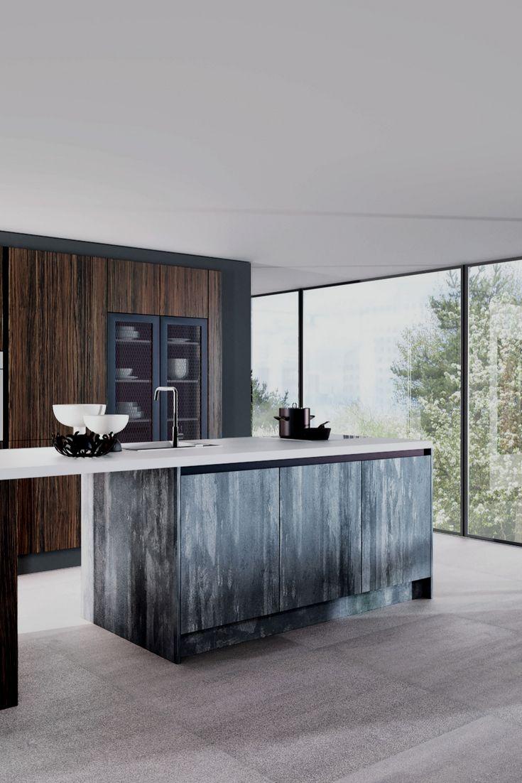 77 besten dunkle k chen schick durch schwarz grau bilder auf pinterest arbeitsplatte. Black Bedroom Furniture Sets. Home Design Ideas