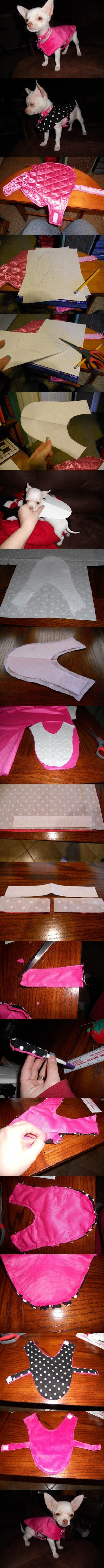 DIY Cute Reversible Dog Coat 2