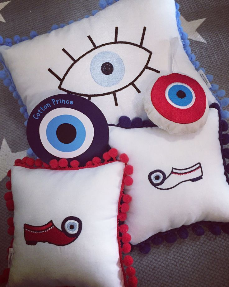tsarouhi & evileye pillows by cotton prince! it's chic to be Greek