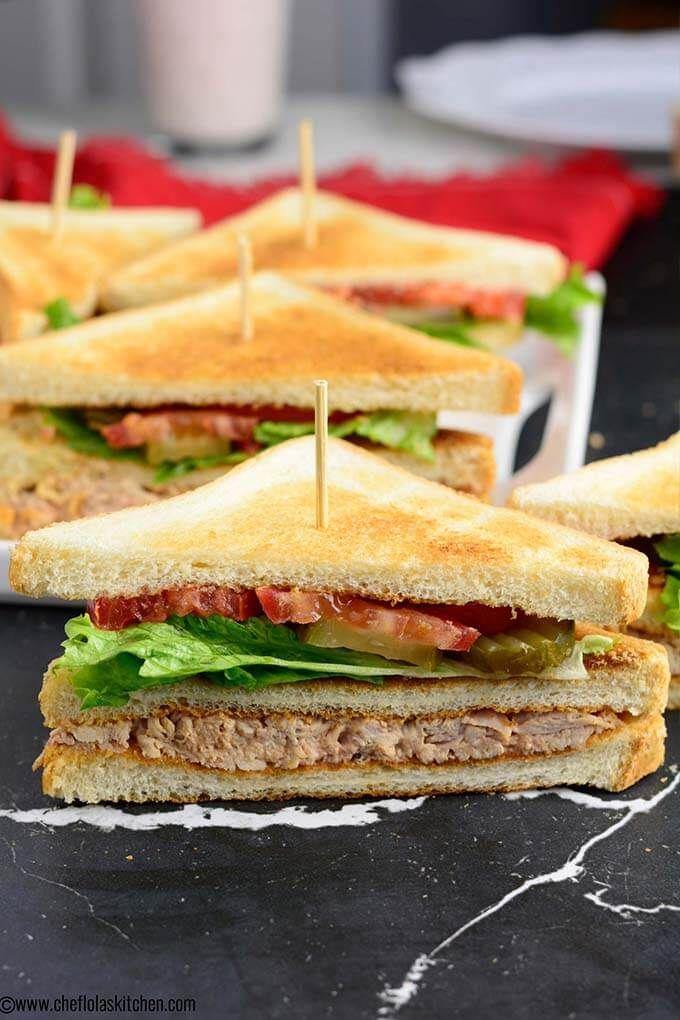 Easy Club Sandwich Recipe Sandwich Recipes Food Recipes Club