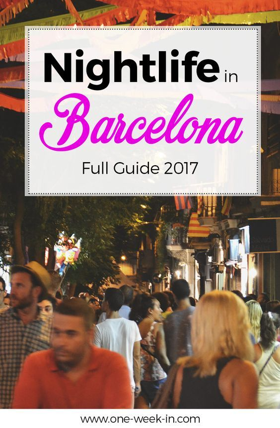 This city on the shores of the Mediterranean has a well-deserved reputation for having some of the best nightlife in Europe. There's a little bit of something for everyone here, from grimy dive bars to glossy beachfront clubs (and just about everything in between, too). We explain all the details about Barcelona Nightlife at https://one-week-in.com/nightlife-in-barcelona/ (scheduled via http://www.tailwindapp.com?utm_source=pinterest&utm_medium=twpin)