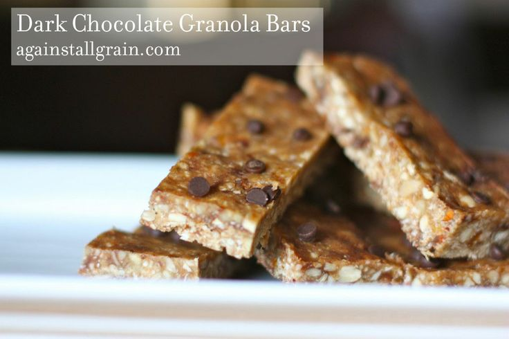 Dark Chocolate Granola Bars - Danielle Walker's Against All Grain