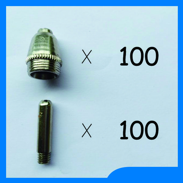 Very useful SG 55& AG 60 Plasma Torch Spare parts KIT Many people like Nozzles TIPS 60Amp&1.2mm , 200PK