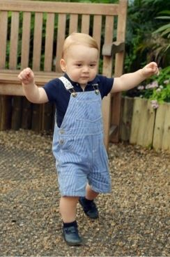 3 Prince George of Cambridge, born 22 July 2013, on his 1st birthday in 2014