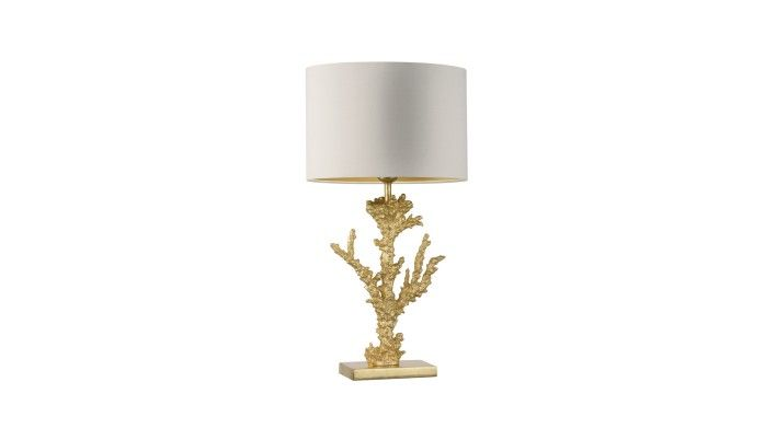 Heathfield, Coral Gold Leaf Table Lamp, Buy online at LuxDeco