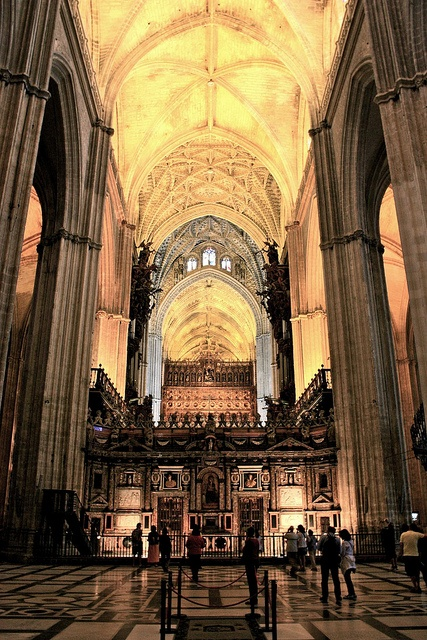 Seville Cathedral Interior Entrance Spain Places I D
