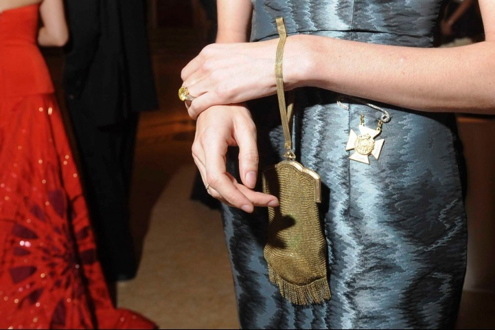 A detail of Lauren Santo Domingo's wristlet