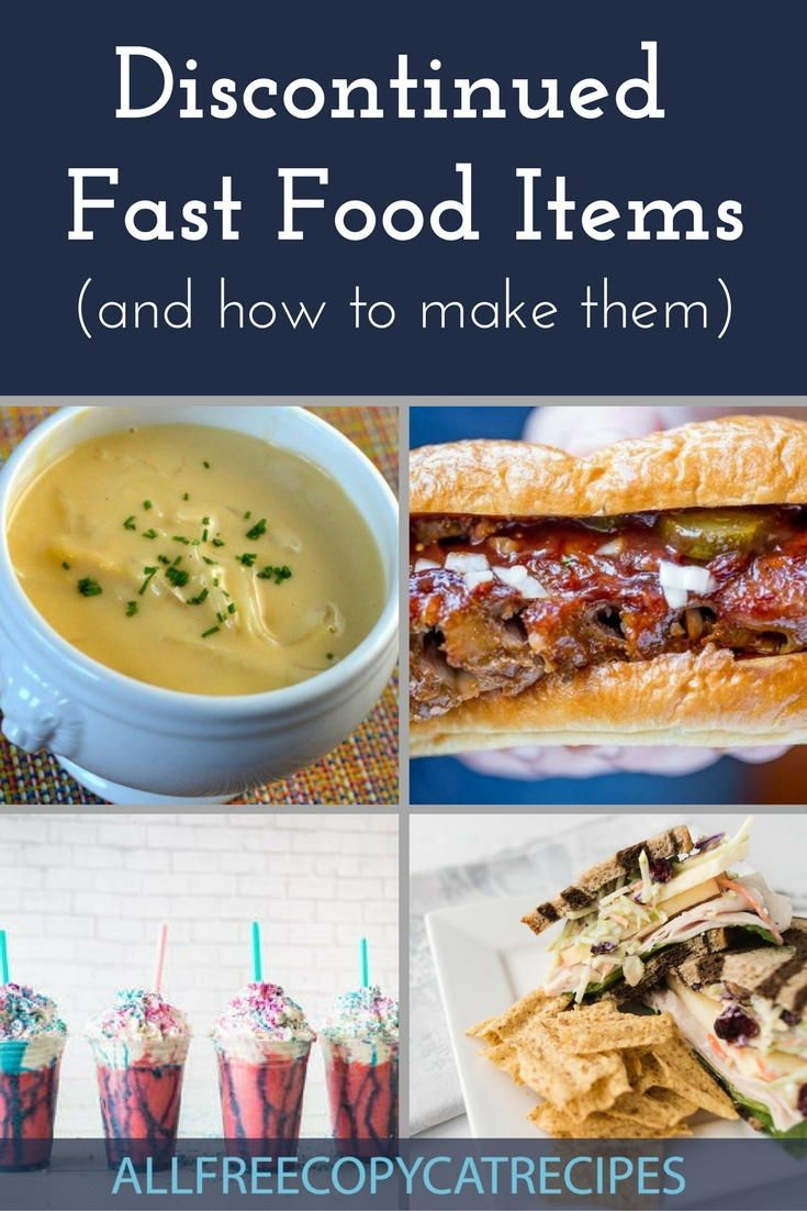 13 Discontinued Fast Food Items (And How to Make Them) | AllFreeCopycatRecipes.com