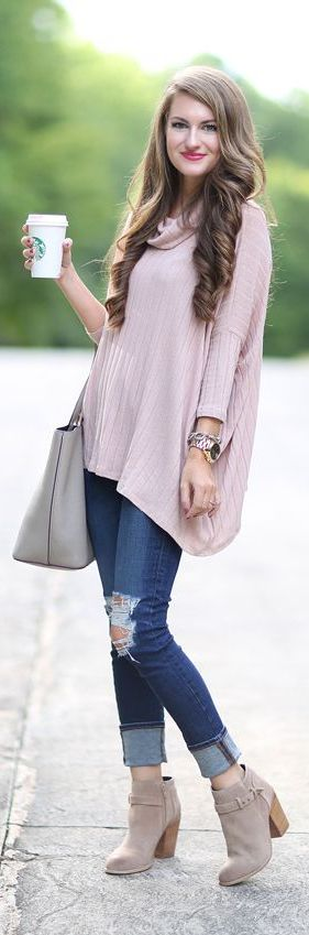 A cute cowl neck poncho is a perfect piece for transitioning from season to season! Pair it with chunky scarves for the fall, and layer it underneath coats and vests during the winter! How do you like to style your ponchos?