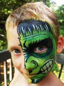 How to face paint the Hulk