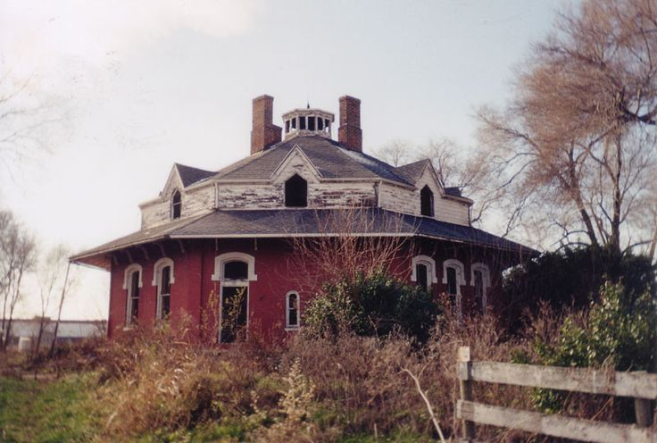"As strange by today's standards as the concrete ""round house"" in Logan, Circleville's M.M. Crites farmhouse is actually a rare surviving example of a popular architectural style of mid-nineteenth century America: the Octagon House."