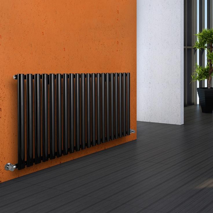 Aruba - Luxury Black Horizontal Designer Radiator 635mm x 1180mm