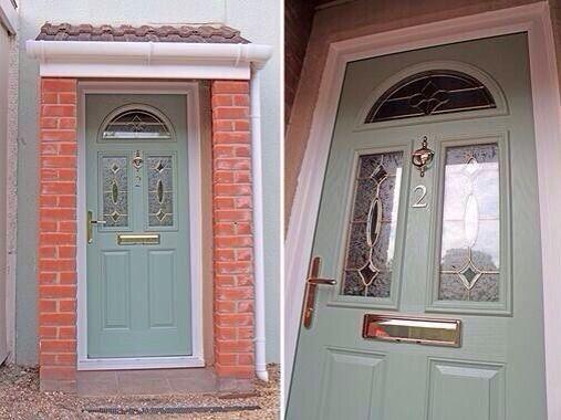 UPVC GREEN COLOUR COMPOSITE FRONT DOOR - MADE TO MEASURE - DIFFERENT DESIGNS https://upvcfabricatorsindelhi.wordpress.com/