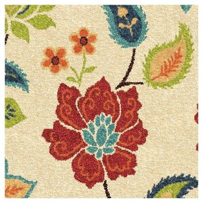 Orian Rugs Garden Chintz Promise Transitional Area Rug - Ivory, Beige