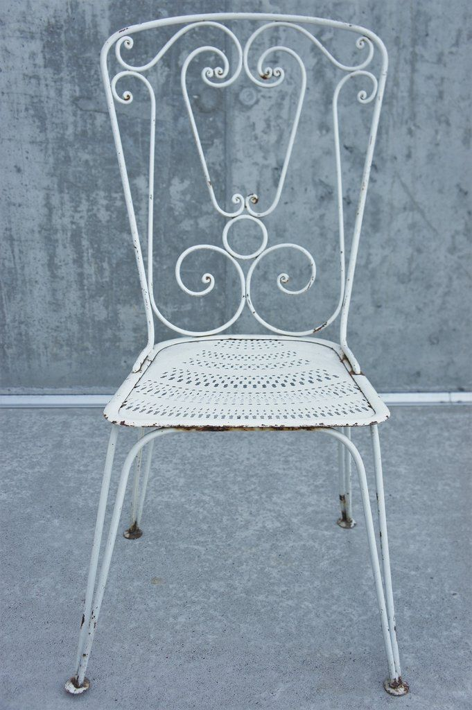 1960 S Set Of 4 Wrought Iron Garden Chairs Wrought Iron Chairs