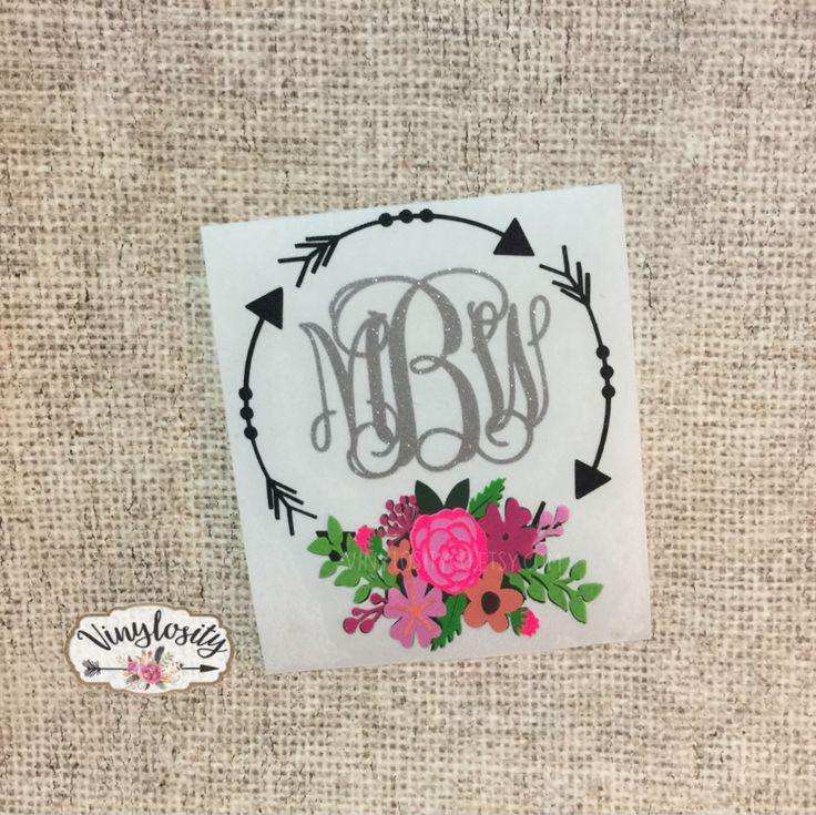 Floral Arrow Decal | Personalized Floral Decal | Floral Arrow | Monogram Decal | YETI Decal | Car Decal | Laptop Decal by VinylosityCo on Etsy https://www.etsy.com/listing/511441877/floral-arrow-decal-personalized-floral