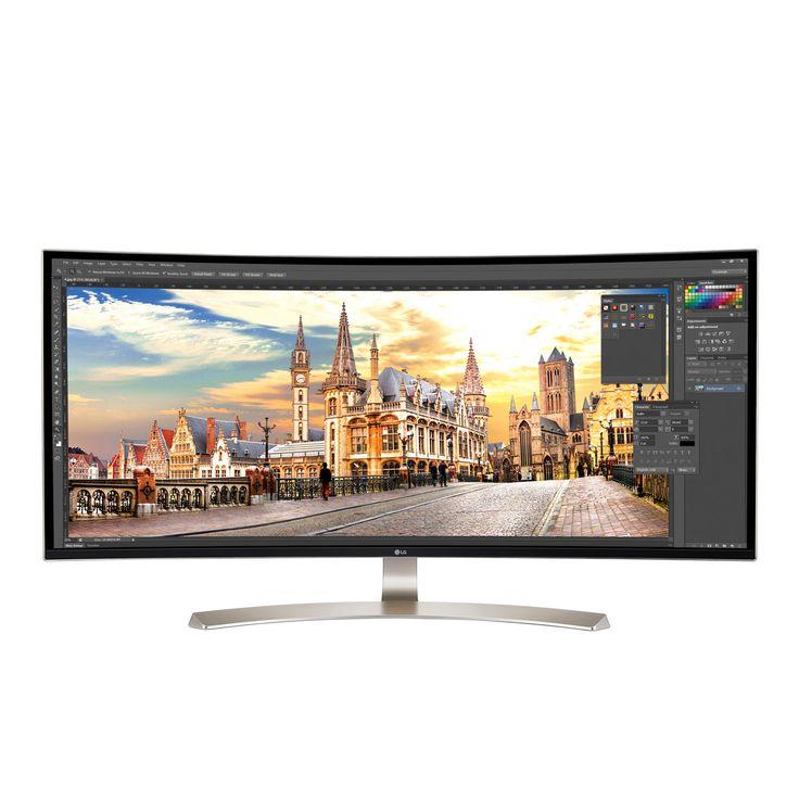 "Ecran PC LG 38"" LED - 38UC99-W 3840 X 1600 pixels - 5 ms (gris à gris) - Format 24/10 - Dalle IPS incurvée - HDMI/DisplayPort/Hub USB 3.0 - Blanc/Argent"