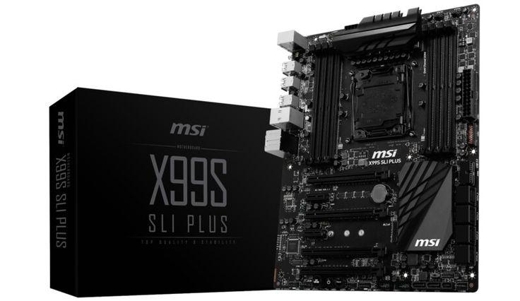X99 black msi motherboard pc computer