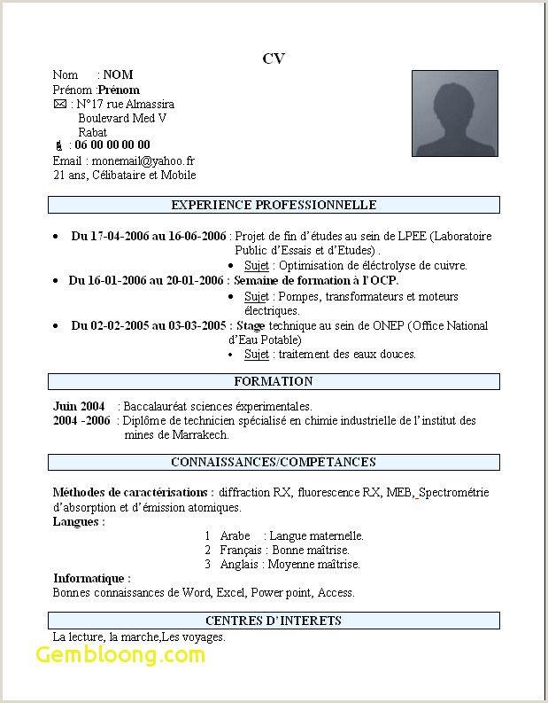 Exemple De Cv Marocain 2016 Cv Words Resume Words Changing Jobs