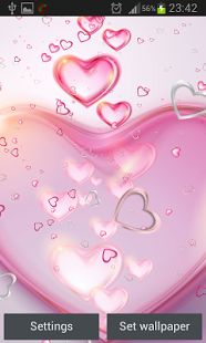 Roze Harten Live Achtergronden - screenshot thumbnail