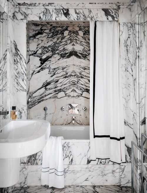 10-Decor Inspiration | Stunning Marble Baths-This Is Glamorous