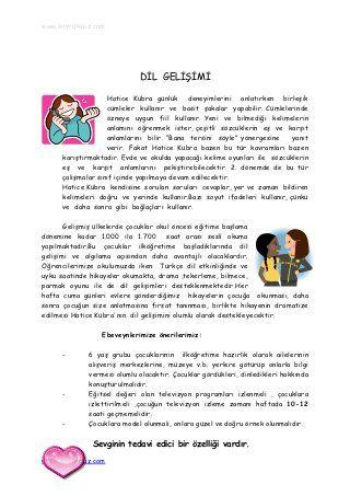 Okulöncesi çocuk gelişim raporu