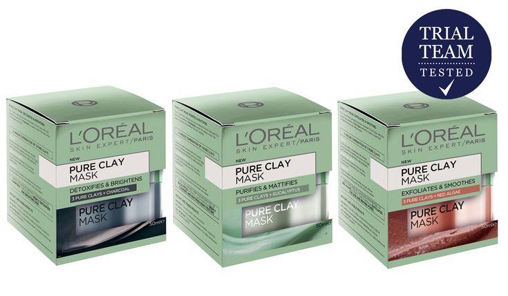 L'Oréal Paris Pure Clay Mask Range Trial Team Reviews