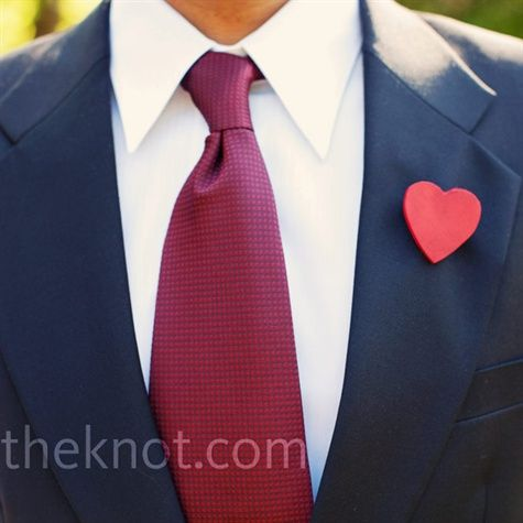Met het hart op de juiste plaats!  Een leuk alternatief voor een corsage.