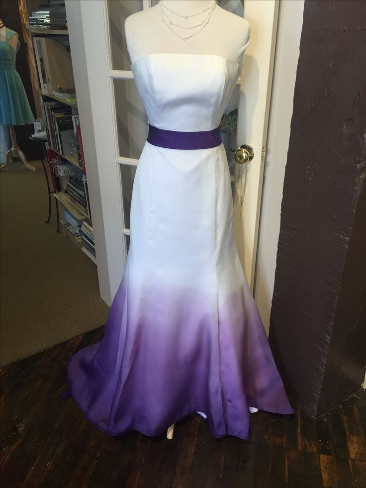 Janell Berte Dip Dyed Gown Wedding Dresses Colored