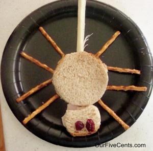 Spider lunch #spider #food #lunchbox