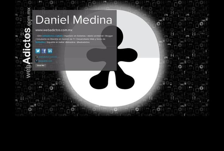 Daniel  Medina's page on about.me – http://about.me/dmedina