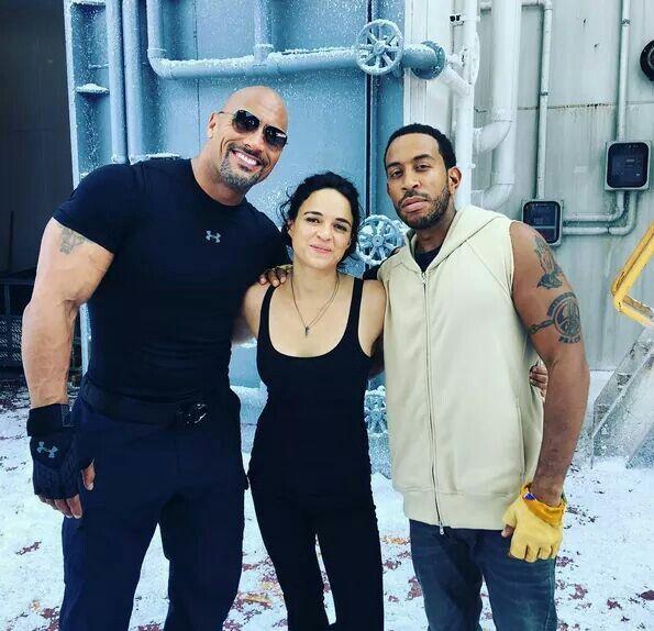 F8 Dwayne, Michelle and Ludacris