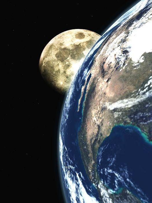 """Bildwerk """"View to the moon"""""""