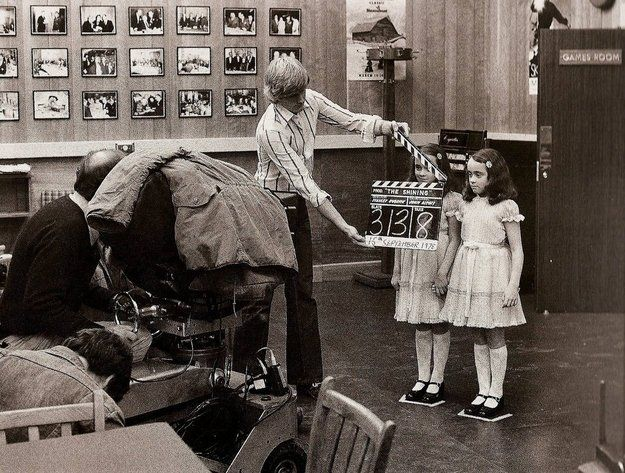 On the set of The shinning
