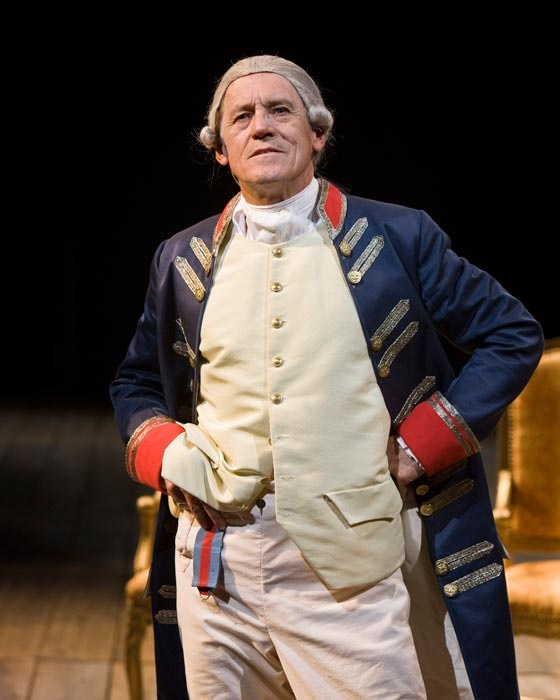 Miles Anderson as Alan Bennet's mad King George III at the Old Globe Theatre