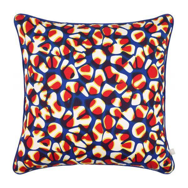Coussin 45x45 à motifs multicolores