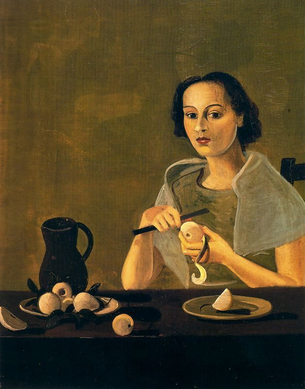 The Girl Cutting an Apple by Andre Derain (1880-1954), French artist, co-founder of Fauvism with Matisse (womeninarthistory)