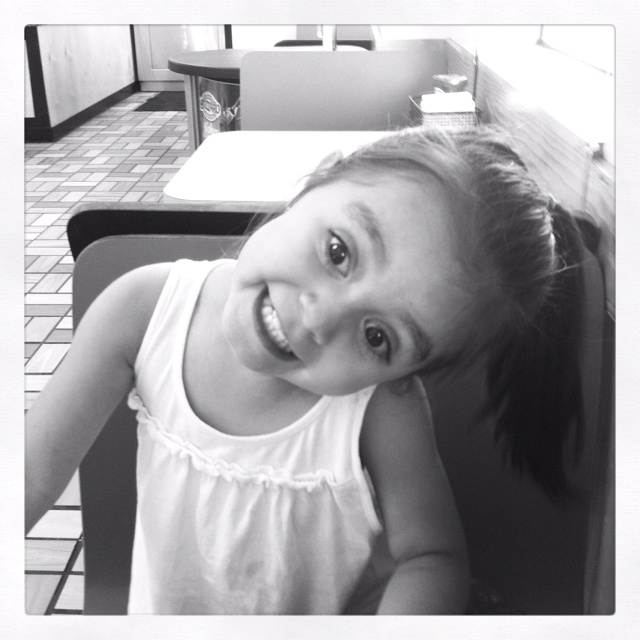 Ice cream makes Ava happy!