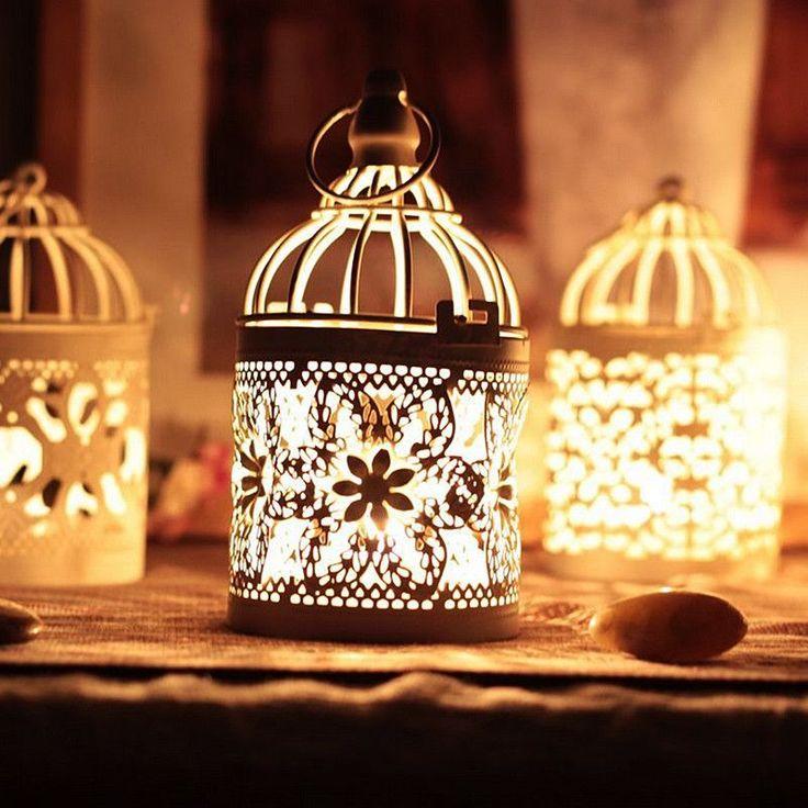 Nova chegada Decorativo Lanterna Marroquina Castiçais suporte de Vela Votiva Pendurado Lanterna Do Vintage Decoração P17