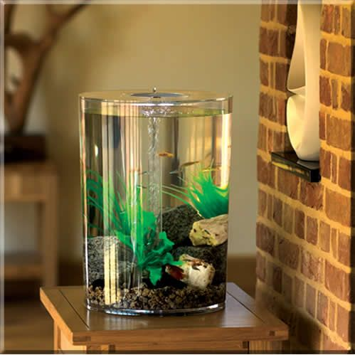$181= clear and slimline!  BiUbe Pure 9 Gallon biUbe Pure allows you to have a complete aquarium without all the maintenance many traditional aquariums need. The massive biological filtration along with the advanced filter cartridge system means keeping the aquarium looking great doesn't mean hours of work.